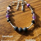 Amethyst diffusers bracelet Goddess
