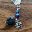 Lapis Lazuli diffusers necklace pentacle