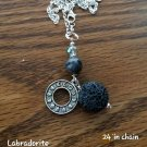 Labradorite  diffusers necklace  moon phases