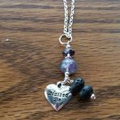 "Purple Flourite diffusers necklace ""Blessed Be "" heart"