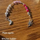 Plum Agate Faery witches Ladder