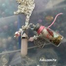Eternal love spell bottle charm necklace