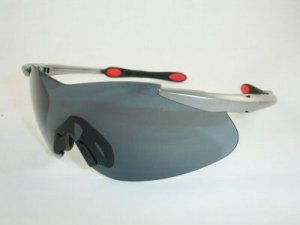 Ray Ban RayBan Sunglass RB 4059 Silver w Red RB4059 702/80