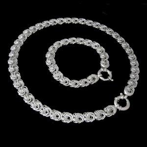 Sterling Silver Spiral Links Necklace & Bracelet