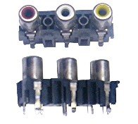 RCA Jack, 3-Position, R-W-Y (In Stock)