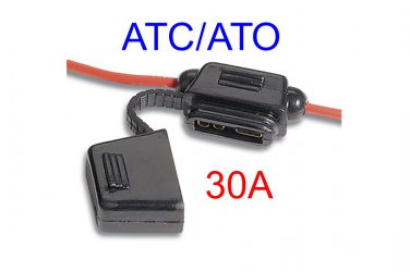 80865, Imperial, ATO/ATC In-Line Fuse Holder w/cover, 30A [J]