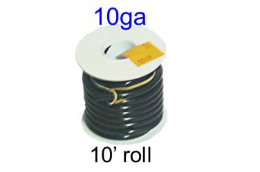 8105, Del City, Primary Wire, Thrifty Spool, Black 10 Ga, 10-ft [L]