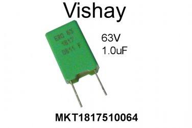 MKT1817510064, Vishay, Polyester Film Capacitor, 1uF, 63V, 5%, [EA] [A]
