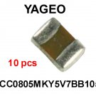 CC0805MKY5V7BB105, Yageo, CAPACITOR, CERAMIC, 16V, 1 uF, 0805 [10 pcs] [H]