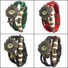 Women's Quartz Leather Bracelet Bangle Wrist Watch