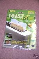 Toast It Toaster Bags Turn Toaster into Mini Oven NEW