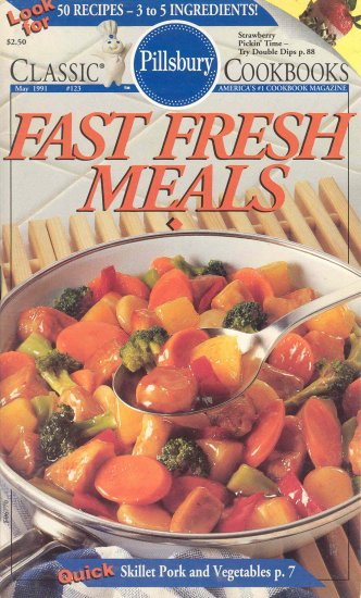 Pillsbury Fast Fresh Meals #123 Cookbook Buy 3 Get 1 Free