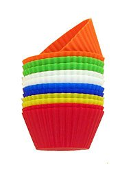 Lot of 12 Silicone Baking Cups Reusable NEW