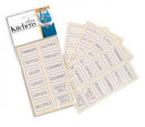 Spice Labels for Bottles Jars Tins