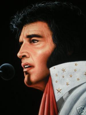 Elvis Presley The King Black Velvet Oil Painting Great