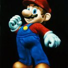 Super Mario Bros. black velvet oil painting