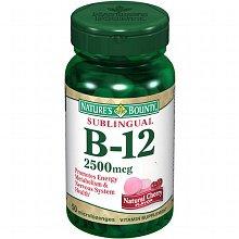 Nature's Bounty Sublingual Vitamin B-12 2500 mcg cherry