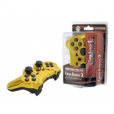 PS3 Hydra Accessories Gold Wireless Controller New