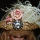 Victorian Style Hat 4 Antique French Fashion, Jumeau-or German Bisque Head Dolls