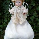 Adorable Old Antique German Armand Marseille Solid Dome Bisque Head Baby Doll