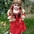 Antique Old German Armand Marseille Florodora Doll In Original Regional Outfit
