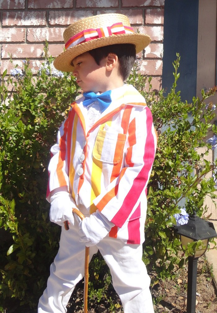 mary poppins bert costume custom made stripe suit coat