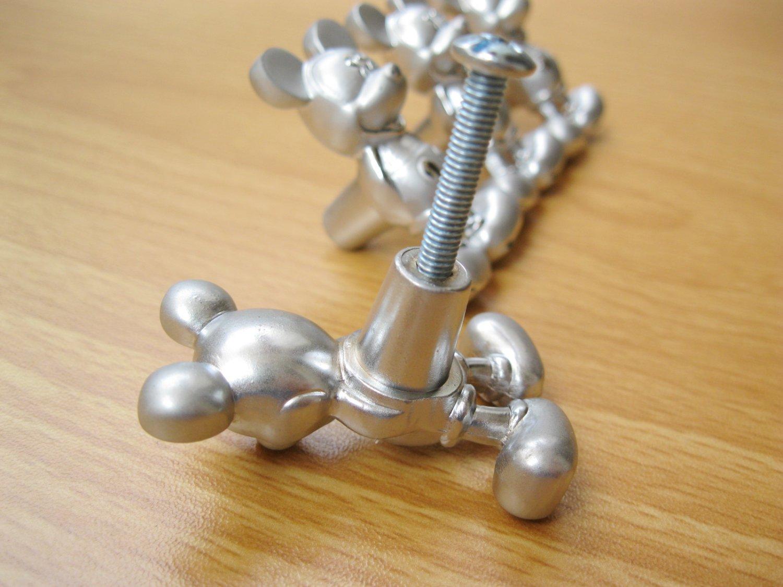 Mickey Mouse Metal Kitchen Cabinet Door Knobs Drawer Pulls Handles