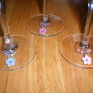 Set of 3 Wine Glass Charms