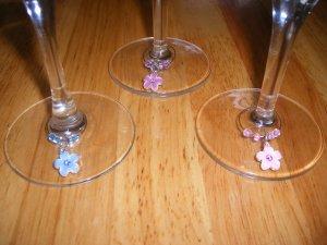 Set of 3 Wine Glass Charms