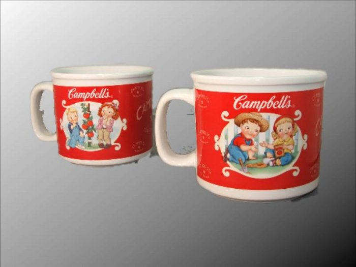 Collection of Campbell's Soup Mugs- Set of 4+2.