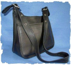 Classic Coach Black Leather Legacy Handbag