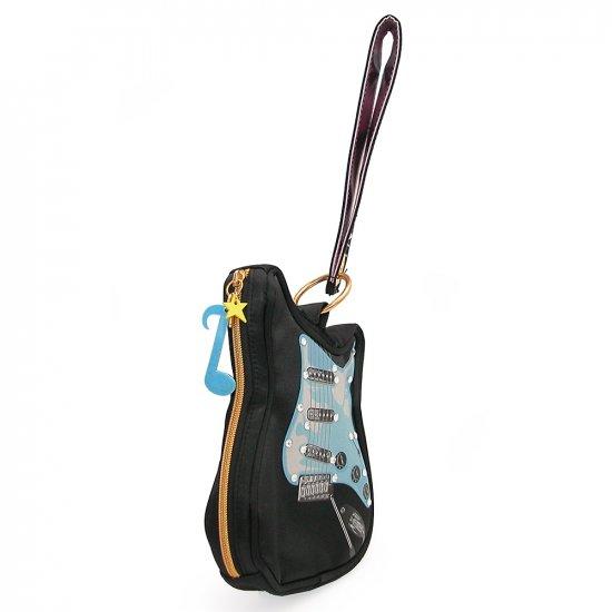 Black guitar clutch