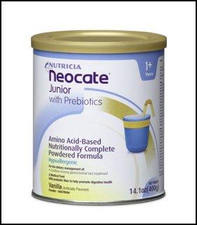 Neocate Jr With Prebiotics VANILLA Flavor LOT: 2 CANS Exp