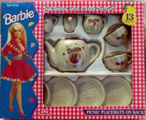 Barbie 13 piece China Tea Party Set
