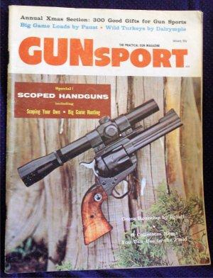 Vintage 1958 Gunsport Magazine