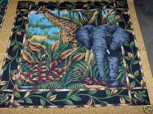 Out of Africa Pillow Top (Elephant)