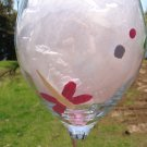 Dragonflies Pink Blue Green Hand Painted Wine Glass