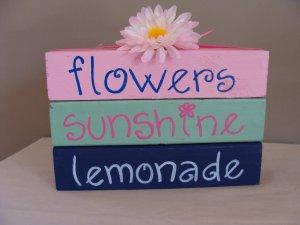 Flowers Sunshine Lemonade Wood Stackers