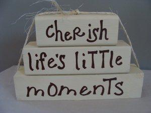 Cherish Life's Little Moments Wood Stackers