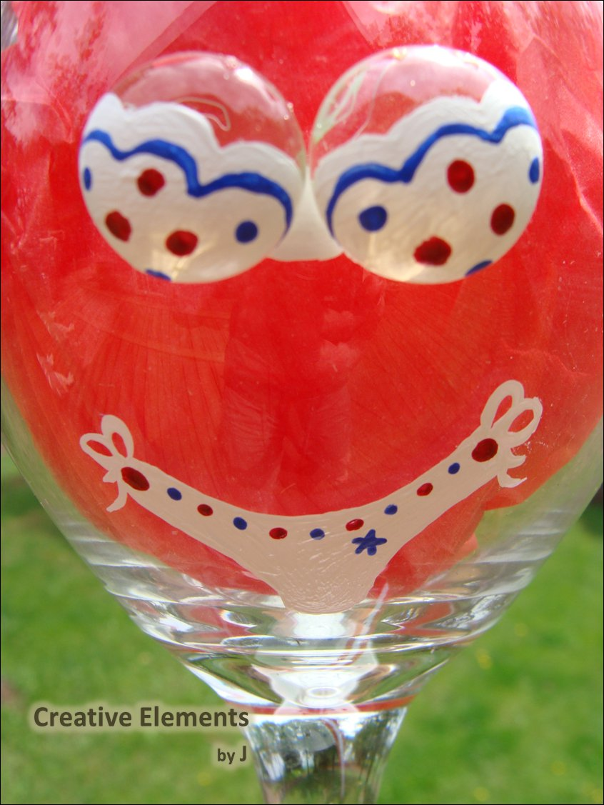 Patriotic Red White Amp Blue Polka Dot Bikini 3d Boobs Hand