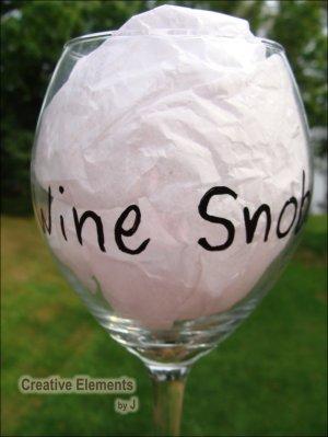 Wine Snob Hand Painted Wine Glass