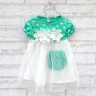 Size 100 Green - Princess Flower Bubble Dress