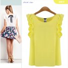 Size Asian L (US M(8-10) UK 10 AU 12) - Women Lacing Bow Chiffon Blouse