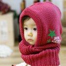 Red - New Korean Style Cute Children Stretchy Warm Winter Hat Beanie Collar Cap