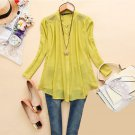 Asian S (US S(2) ,UK 2, AU 4) - Women's Long Sleeve Blouse