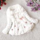 Size 12 White - Girls Junoesque Baby Faux Fur Coat