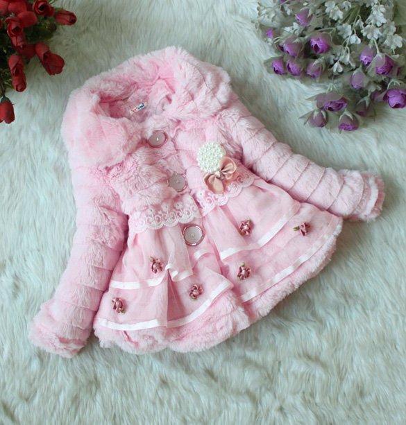 Size 8 Pink - Girls Junoesque Baby Faux Fur Coat
