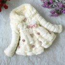 Size 10 Beige - Girls Junoesque Baby Faux Fur Coat