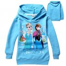 Size 120 - 2014 New Girls FROZEN Hoodies