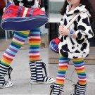 Size 130 - New Arrival Girls Winter Fleece Rainbow Leggings